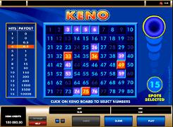 Игровой автомат Keno